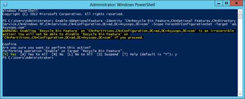 Что нового в корзине Active Directory в Windows Server 2012-05