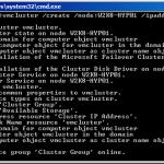 Как из командной строки настроить Hyper-V Server 2008 R2 Failover Cluster-2 часть