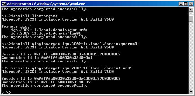 Как из командной строки настроить Hyper-V Server R2 Failover Cluster-1 часть-11