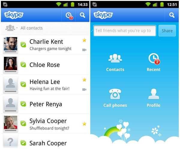 Очередное обновление Skype упорядочит уведомления о входящих сообщениях