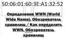 Определение WWN (World Wide Name). Обозреватель хранилищ