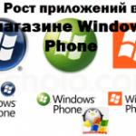 Рост приложений в магазине Windows Phone