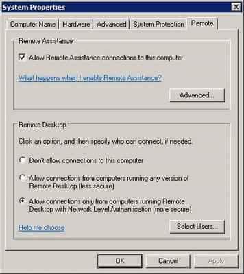 Включаем Проверку на уровне сети (Network Level Authentication) в Windows XP SP3-01