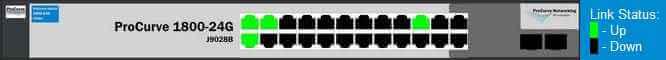 Как через web интерфейс настроить VLAN на коммутаторе HP 1800-24G (J9028B)-02