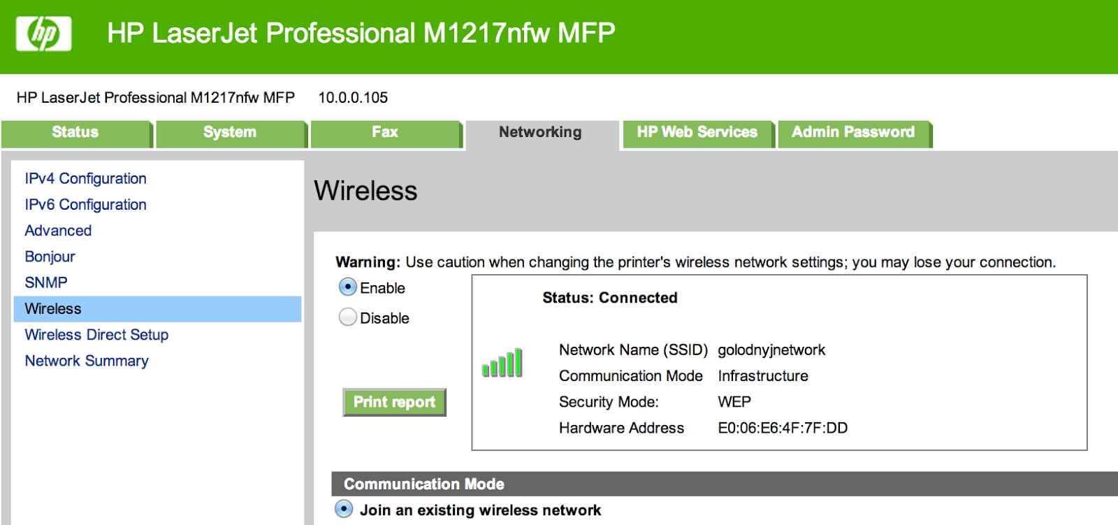Как настроить принтер HP LaserJet M1217nfw MFP через WiFi-02