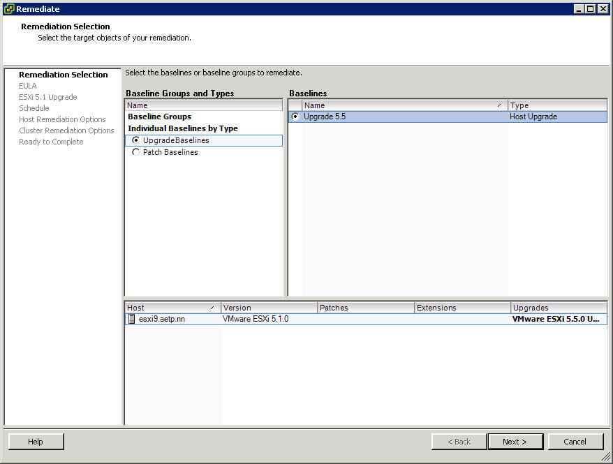 Как обновить ESXI с 5.1 до 5.5 — часть 1. Через Update Manager Server-20