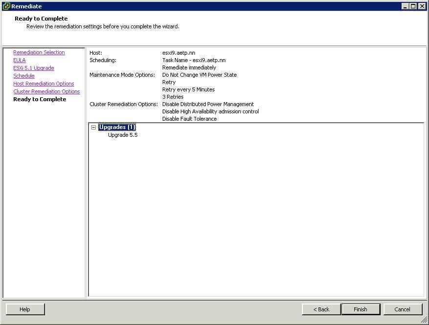 Как обновить ESXI с 5.1 до 5.5 — часть 1. Через Update Manager Server-25