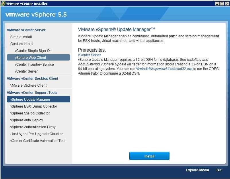 Как обновить Vcenter с 5.1 до 5.5 — часть 3. Обновляем Update Manager Server-01