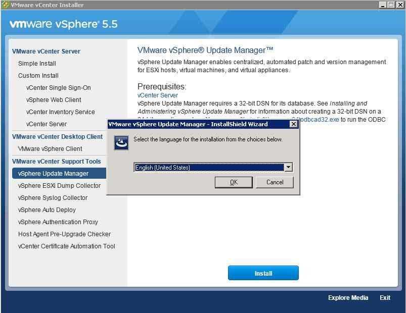 Как обновить Vcenter с 5.1 до 5.5 — часть 3. Обновляем Update Manager Server-02