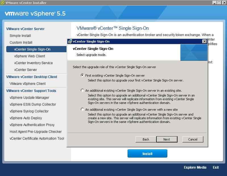 Как обновить Vcenter с 5.1 до 5.5-1 часть-13