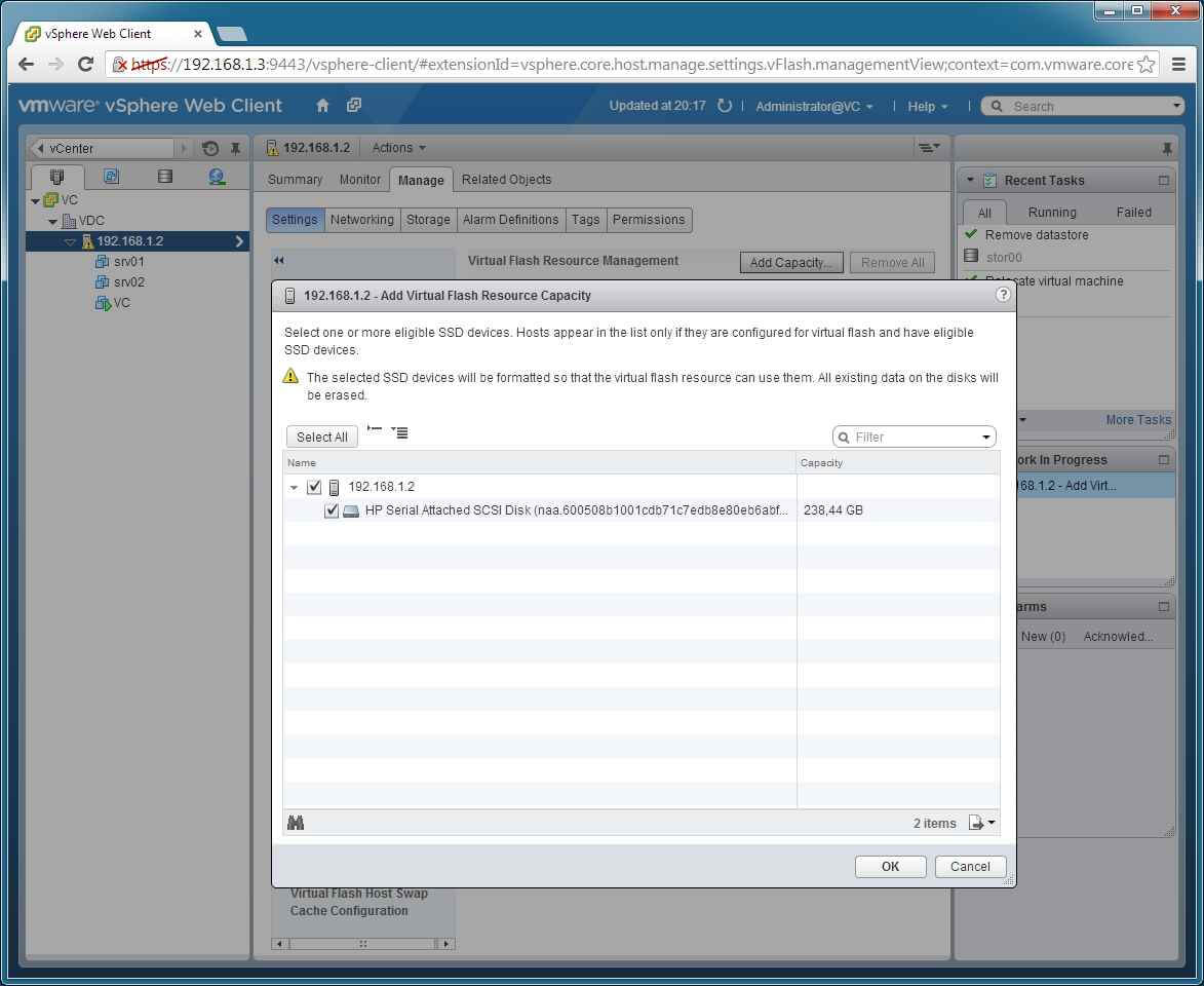 Как включить Virtual Flash Read Cache в VMware vSphere 5.5-05