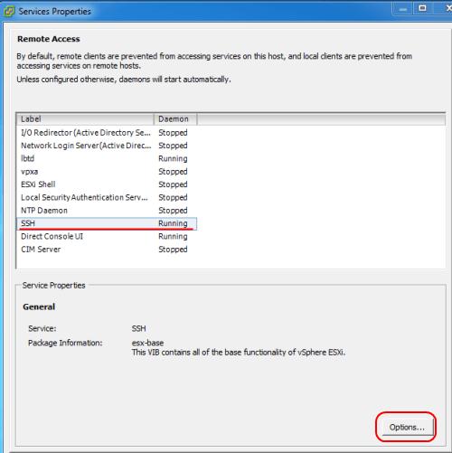 Как включить доступ по SSH и esxi shell на хосте VMware ESXi 5.1-05