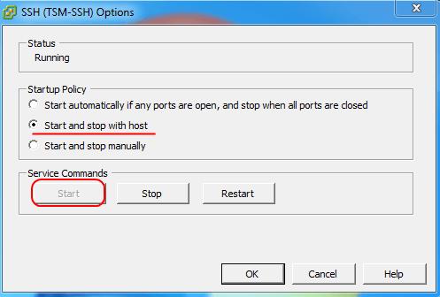 Как включить доступ по SSH и esxi shell на хосте VMware ESXi 5.1-06