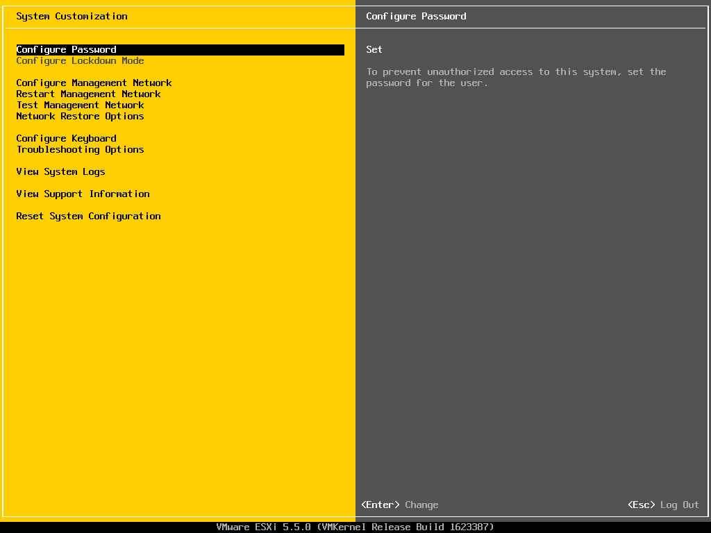 Описание локальных параметров в ESXI 5.x.x-03