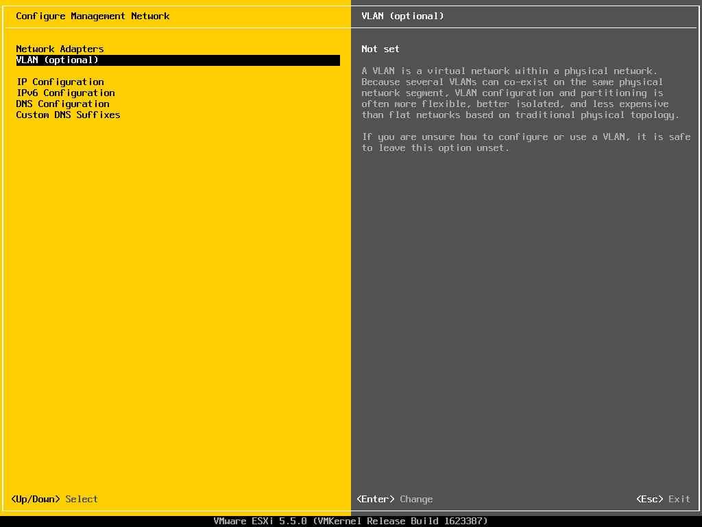Описание локальных параметров в ESXI 5.x.x-08