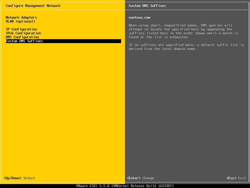 Описание локальных параметров в ESXI 5.x.x-17