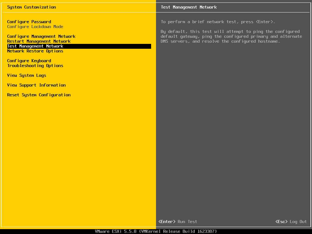Описание локальных параметров в ESXI 5.x.x-20