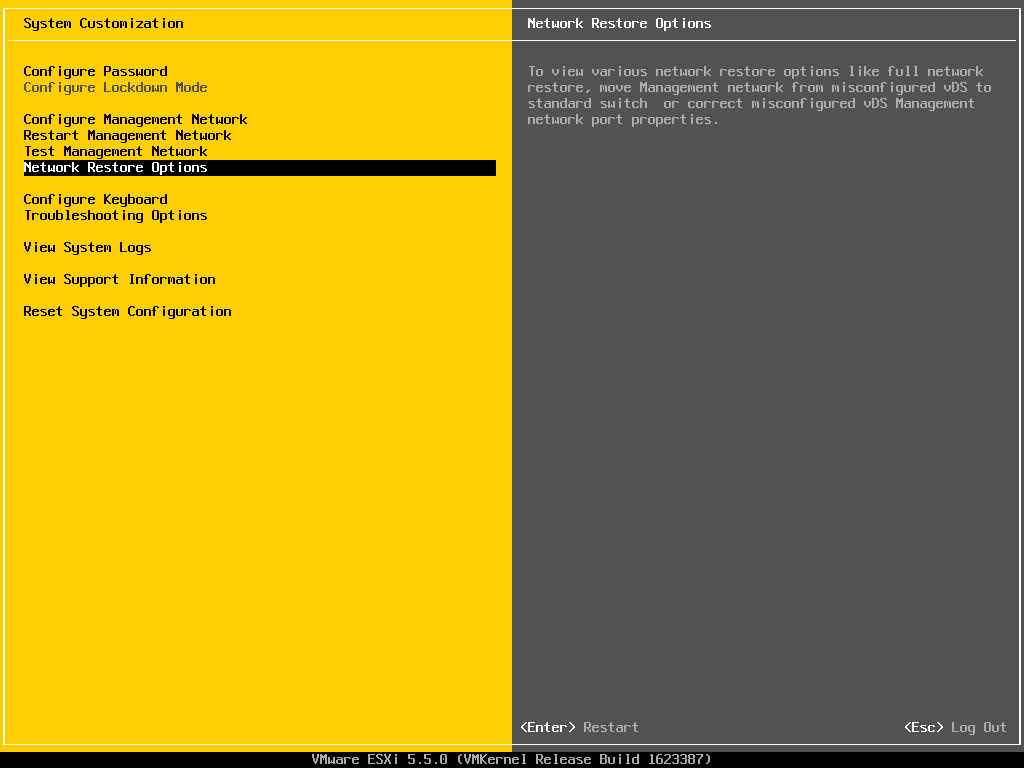 Описание локальных параметров в ESXI 5.x.x-24