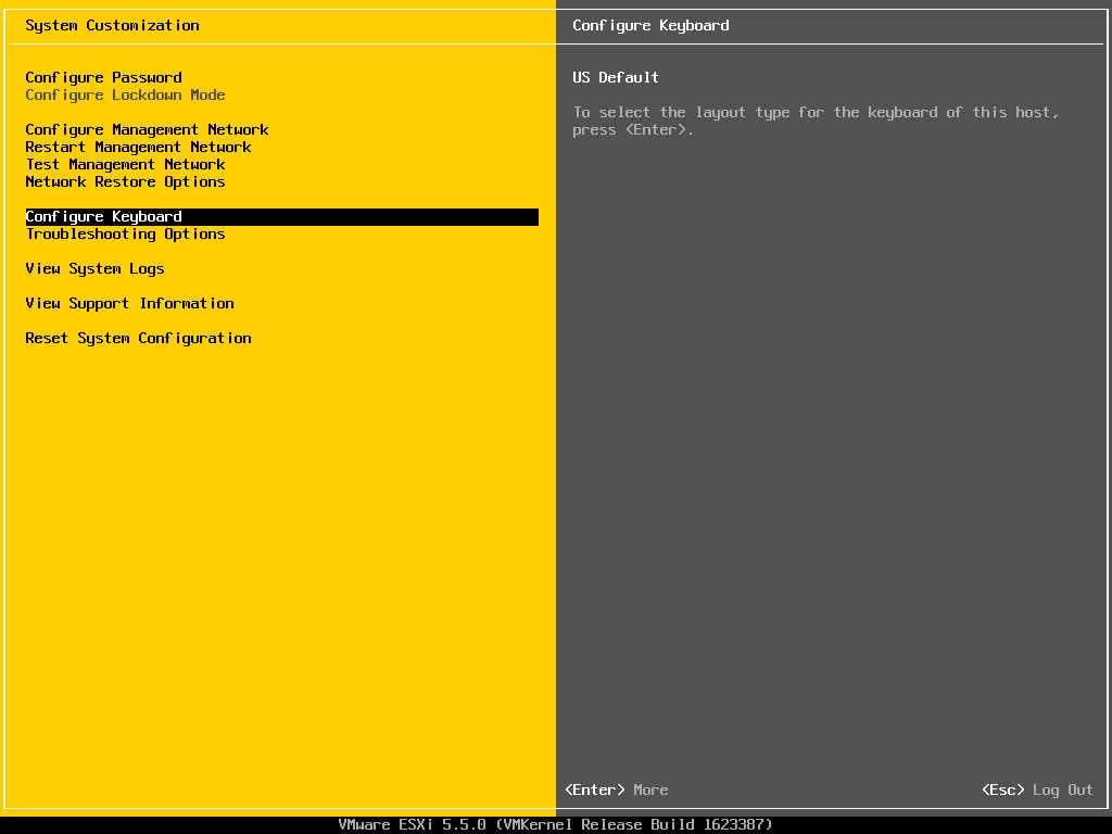 Описание локальных параметров в ESXI 5.x.x-25