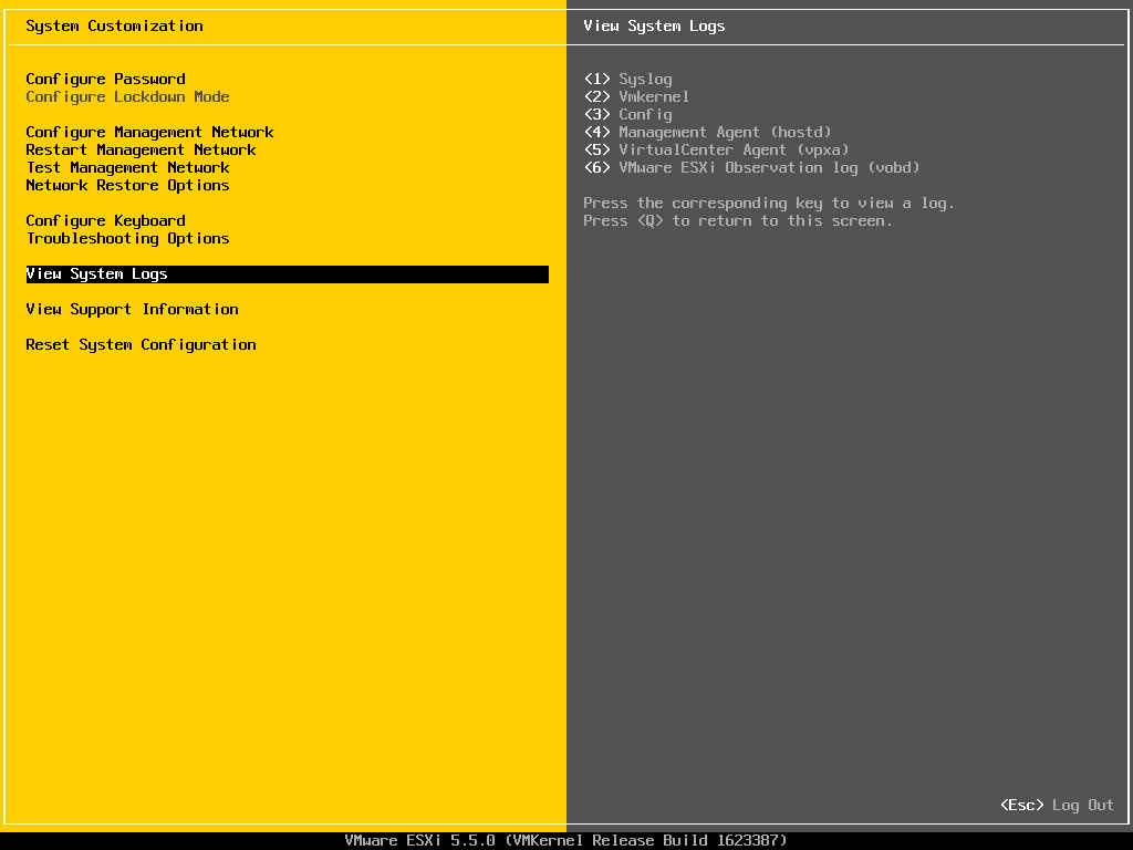 Описание локальных параметров в ESXI 5.x.x-30