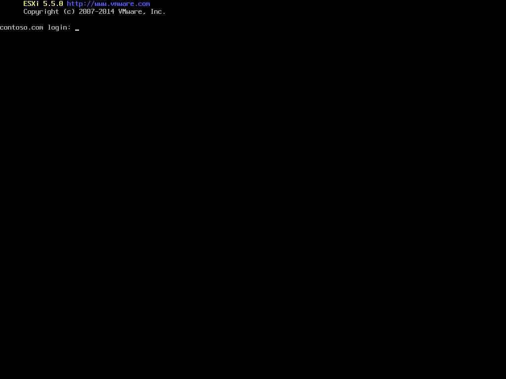 Описание локальных параметров в ESXI 5.x.x-33