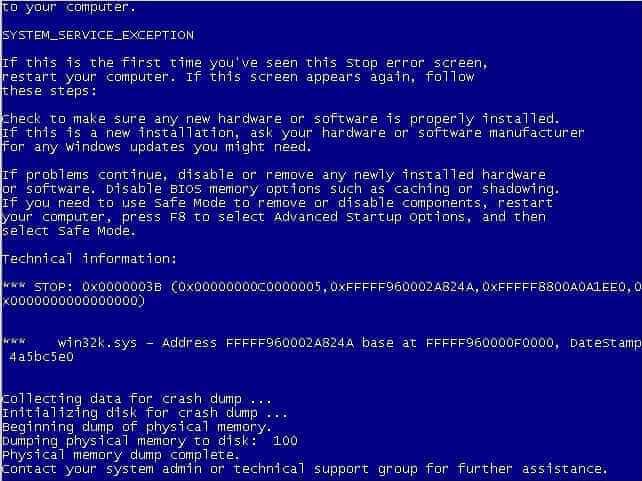 Ошибка 0x0000003B в Windows server 2008R2