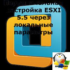 Первоначальная настройка ESXI 5.5 через локальные параметры