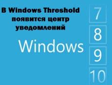 В Windows Threshold появится центр уведомлений