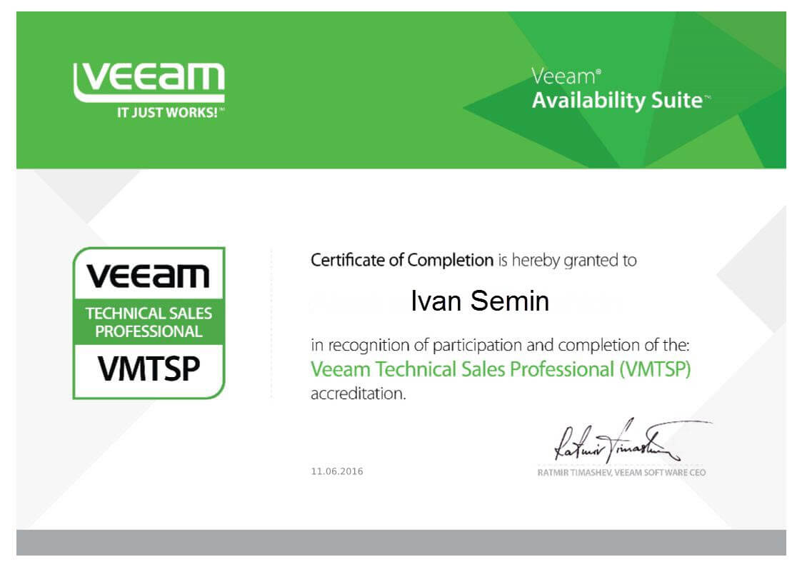 Veeam Technical Sales Professional (VMTSP)-1