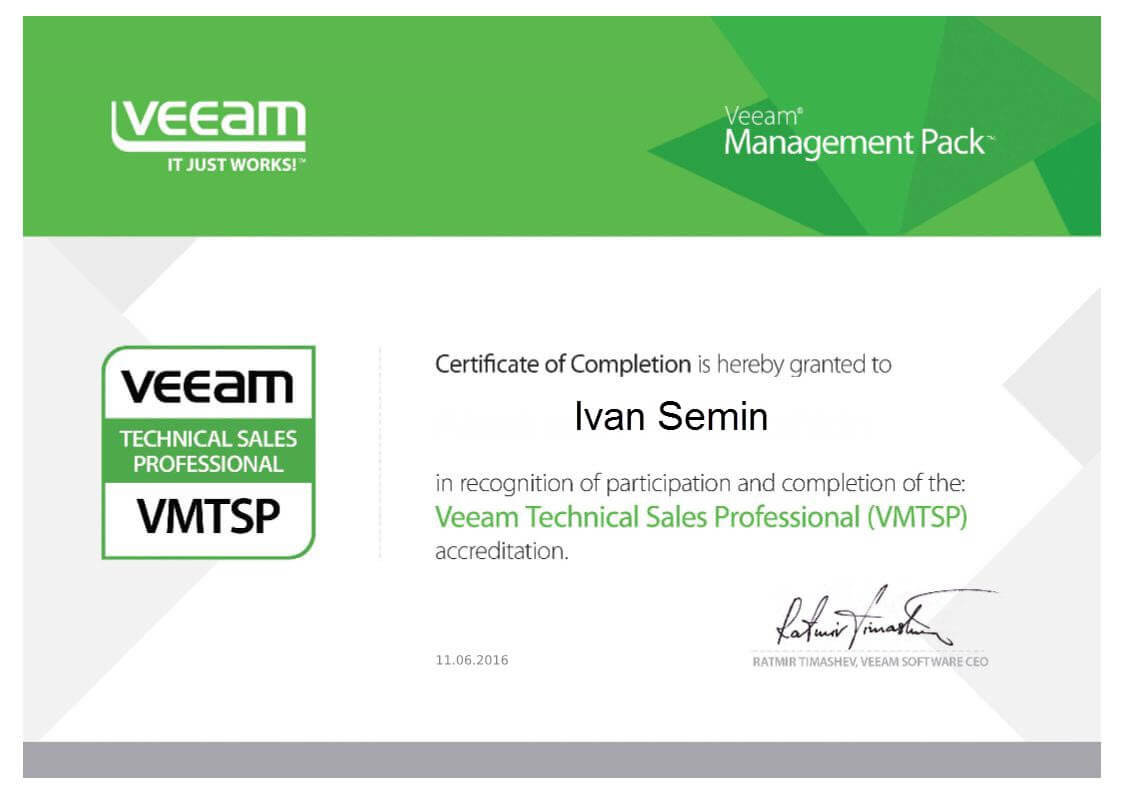 Veeam Technical Sales Professional (VMTSP)-2