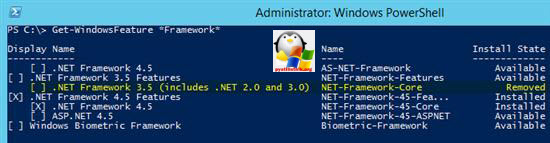 net framework 3.5 windows server 2012 r2