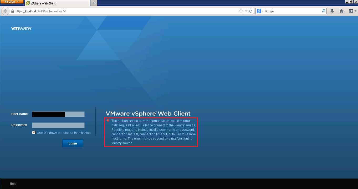 A general system error occurred-Authorize Exception в VMware vCenter 5.1-03