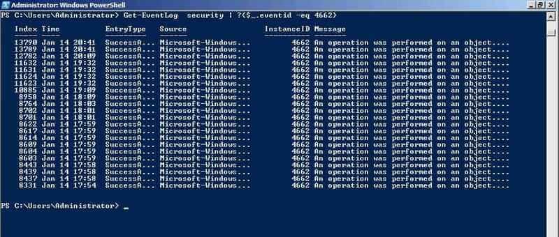 Аудит доменных служб Active Directory штатными средствами в Windows Server 2008 R2-04