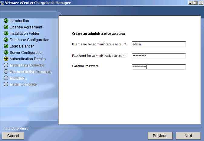 16. assign a local admin account password. click Next.