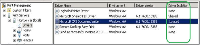 Как изолировать драйвер принтера в Windows 7-02