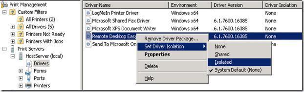 Как изолировать драйвер принтера в Windows 7-03