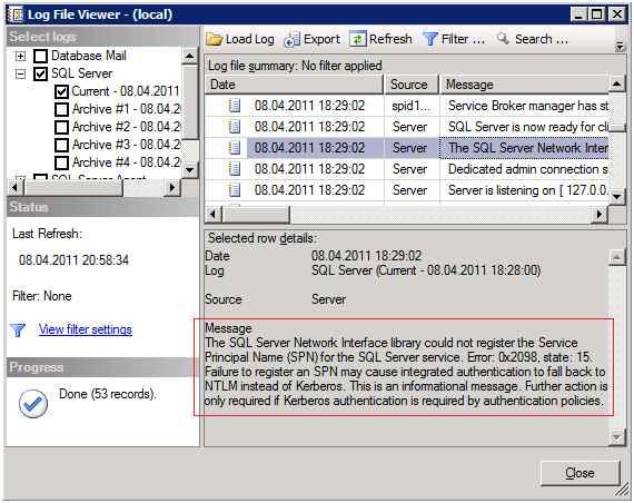 Как настроить SPN (Service Principal Name) в SQL Server и динамическая регистрация SPN-01
