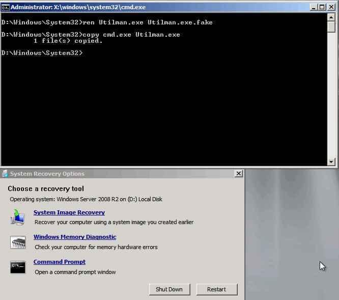 Как сбросить пароль Доменому Администратору в Windows server 2008R2, или про то, как взломать контроллер домена за 5 минут-04