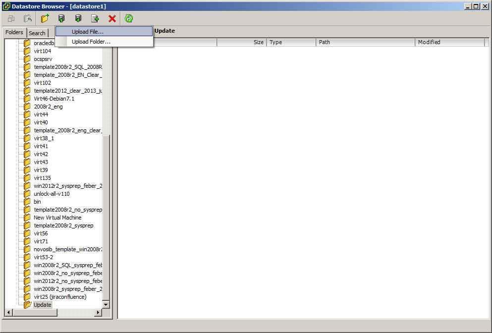 Как скопировать файл в в ESXI 5.x.x-05
