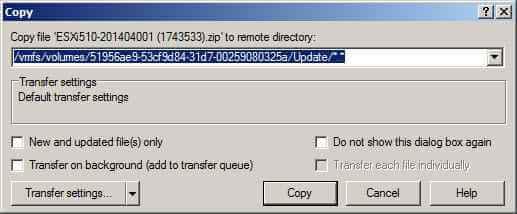 Как скопировать файл в в ESXI 5.x.x-11