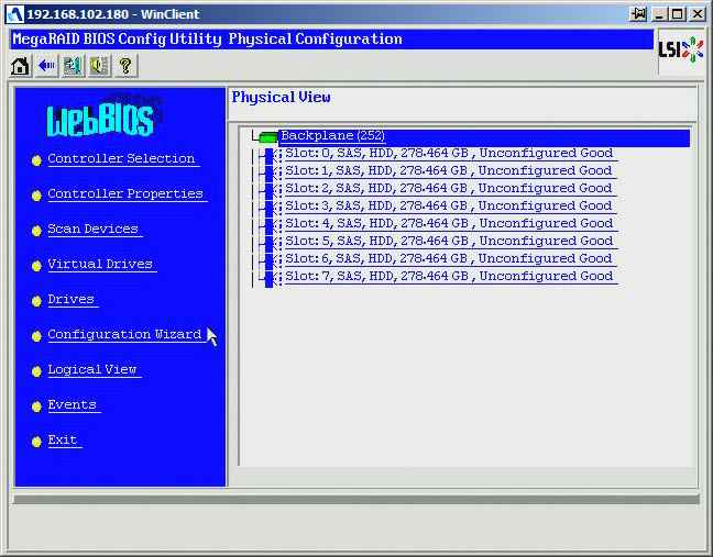 Как создать raid10, raid50, raid60, raid5 на контроллере LSI MegaRAID SAS PCI Express ROMB-02