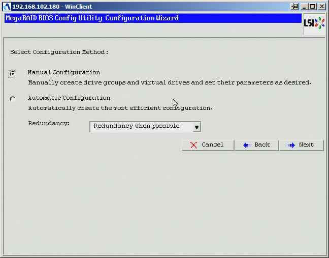 Как создать raid10, raid50, raid60, raid5 на контроллере LSI MegaRAID SAS PCI Express ROMB-05