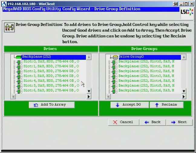 Как создать raid10, raid50, raid60, raid5 на контроллере LSI MegaRAID SAS PCI Express ROMB-08