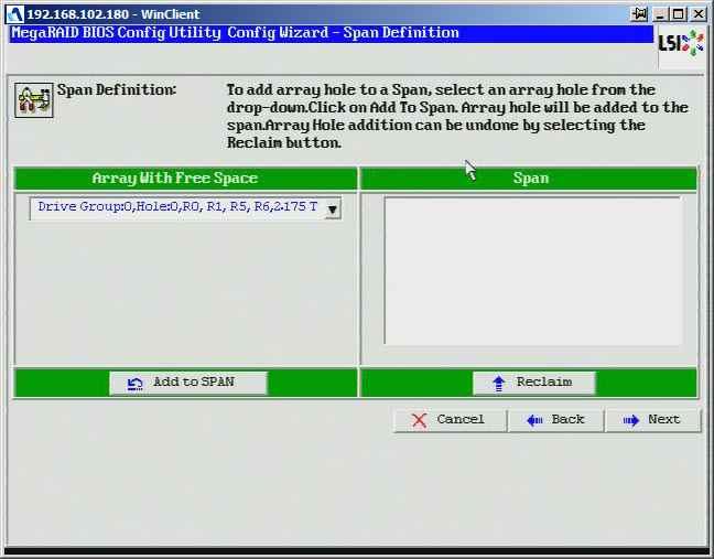 Как создать raid10, raid50, raid60, raid5 на контроллере LSI MegaRAID SAS PCI Express ROMB-10