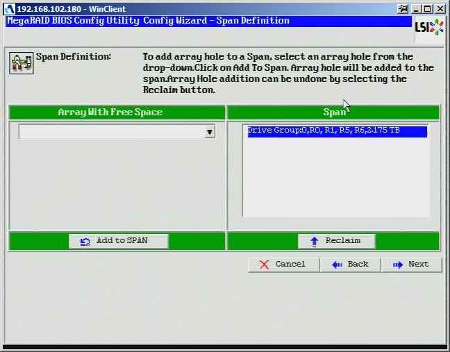 Как создать raid10, raid50, raid60, raid5 на контроллере LSI MegaRAID SAS PCI Express ROMB-11