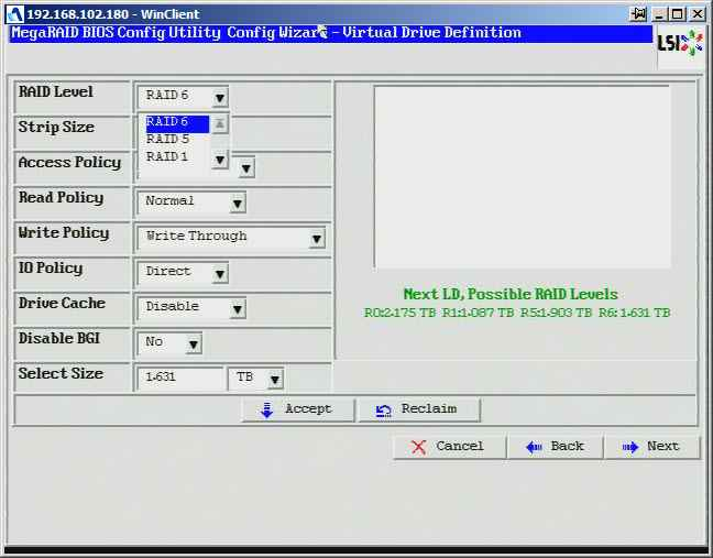 Как создать raid10, raid50, raid60, raid5 на контроллере LSI MegaRAID SAS PCI Express ROMB-12