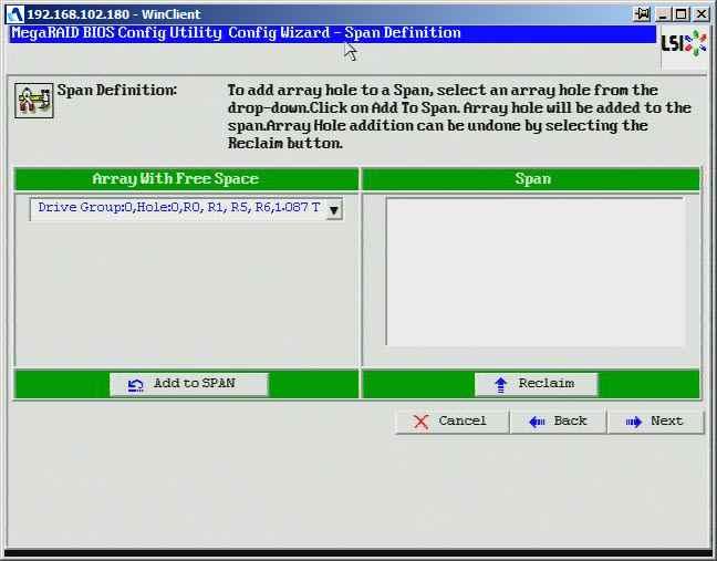 Как создать raid10, raid50, raid60, raid5 на контроллере LSI MegaRAID SAS PCI Express ROMB-18