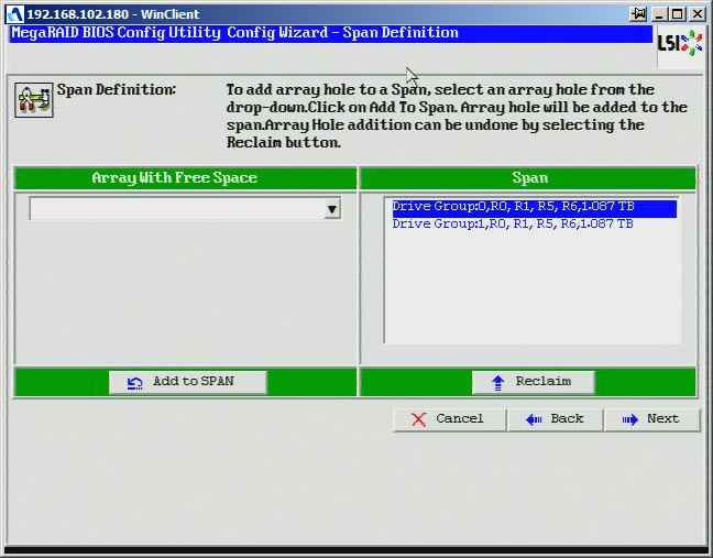 Как создать raid10, raid50, raid60, raid5 на контроллере LSI MegaRAID SAS PCI Express ROMB-19