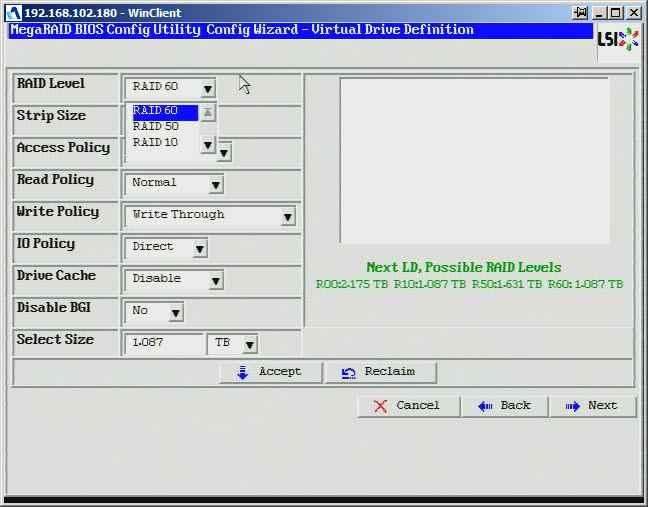 Как создать raid10, raid50, raid60, raid5 на контроллере LSI MegaRAID SAS PCI Express ROMB-20