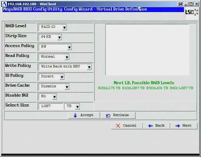 Как создать raid10, raid50, raid60, raid5 на контроллере LSI MegaRAID SAS PCI Express ROMB-21